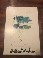 Hans Staudacher (Austrian, b. 1923) Exhibition poster signed ink on verso, 1967