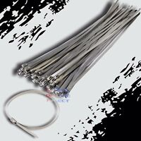 "36"" Stainless Steel Exhaust Wrap UL Approved Locking Cable Zip Ties Metal 20 Pcs"