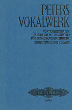 PETERS-VOKALWERK: Vortragsliteratur für hohe Stimme und Klavier (in Leinen geb.)