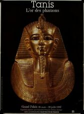 Affiche TANIS L'or des pharaon 1987 Exposition Grand Palais