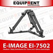 E-Image ei-7502 Medium trípode piernas 38-70cm para 75mm/100mm trípode cabeza (eq763)