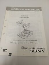 Sony Betamax Mechanical Adjustment Manual 711B3 Chassis 1987 Video cassette