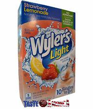 Wylers Light Strawberry Lemonade Singles To Go Drink Mix 10 Stix 28.4g