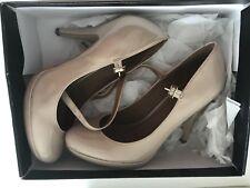 Women's Ladies' Carvela Bree Nude Patent Court Shoes Size 38 RRP £96 Worn Twice