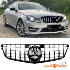 MERCEDES BENZ C-CLASS W204 2007-2015 FRONT GRILLE CHROME PANAMERICANA GT STYLE