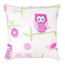 Owls Twit Twoo Design Children's Kids Filled Scatter Cushion Zip Cover Bedroom
