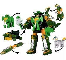 Power Rangers Ninja Steel Deluxe Rumble Tusk Megazord Green Mega Zord Stars Star