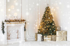 9x6FT Polyester Studio Backdrop Background Glitter Light Spots Xmas Tree Gifts