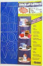 1 12 Inch Stick On Blue Vinyl Letters By Headline 31514 Indoor Outdoor New