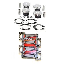 MANLEY HD PISTONS+TURBO-TUFF PLUS RODS FOR FORD ECOBOOST 2.3 87.5mm 9.5:1