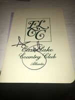 Adam Scott 2006 Tour Championship Signed Eastlake  Scorecard COA