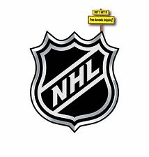 NHL National Hockey League Logo decal/sticker printed on Meticallic Silver p38