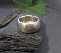 Schöner 925 Silber Ring Schlicht Matt Unisex Damen Herren Klassiker Vintage Top