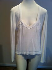 Yves Saint Laurent white viscose and wool blend sweater
