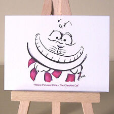 The Cheshire Cat ACEO art card exacitically a very good Wonderland height indeed