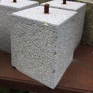 SET OF 6 - 175/210mm CLEARANCE Granite Tapered Staddle Stone/Oak Framed Building