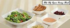 5 Pcs Set Square UNBREAKABLE White Plastic Serving Reusable Snack or Salad Bowls