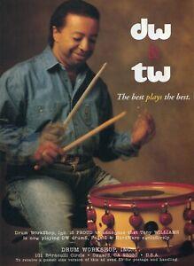 1995 Print Ad of Drum Workshop DW & TW Tony Williams Announcement
