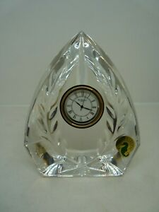 Waterford Crystal Mantle Clock - NEW Battery   Thames Hospice
