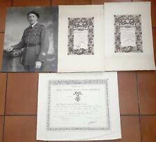 Diplôme of. légion d'honneur Colonel citations croix de guerre 1914-1918 photo