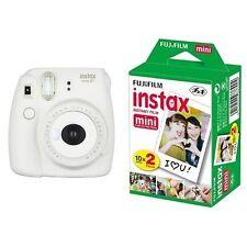 New Model:Fujifilm INSTAX Mini 8 Plus Instant Camera Vanilla Colour+20 Film Set