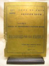 Vintage 1957 Book of Gold Fashion Show Program Cleveland Ohio Many Advertising