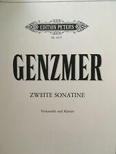 Genzmer - Zweite Sonatine - Violoncello und Klavier