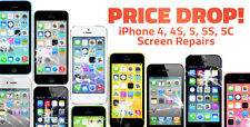 iPhone 4 or 4S Cracked Screen Repair Service. Any Carrier Black or White
