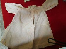 1920s Hand Made Doll Clothes - Pink Embroider Lace Shirt  Rare Unique Beautiful