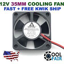 12V 35mm New Cooling Case Fan 35x35x10mm 3510 DC PC Computer 3D Printer CPU 2pin