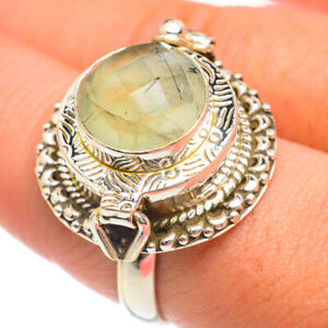 Large Prehnite 925 Sterling Silver Poison Ring Size 9 Ana Co Jewelry R68354