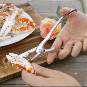 2tlg/set Seafood Meeresfrüchte Besteck Set Krabbe Krebse Hummer Zange Edelstahl.