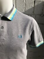 FRED PERRY Polo Shirt M Grey Men's Pique Casuals Terrace