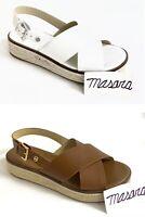 Women MK Michael Kors Meryl Criss Cross Buckle Up Platform Leather Sandals
