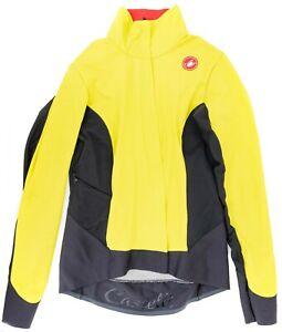 Castelli Women Alpha ROS 2 Lightweight Jacket SMALL Yellow Road Bike Mountain XC