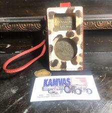 Coach Leather Apple iPod Case Leather Wristlet Strap Animal Print -NEW