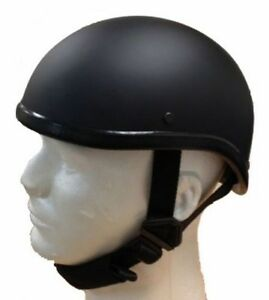 Gladiator Half Novelty Harley Motorcycle Helmet Skull Cap Flat Black Skid Lid