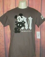 MENS NEFF DISNEY COLLECTION MICKEY MOUSE CHARCOAL GRAY T-SHIRT SIZE S