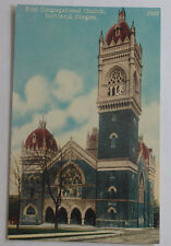 1910 Postcard First Congressional Church Portland Oregon Unposted
