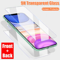 For iPhone 11 Pro Max Xs 360° Front +Back Tempered Glass Screen Protector Film