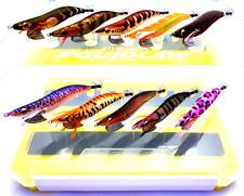 EVERGREEN EGI BANCHO # 3.5 x 5 & 3.0 x 5 colours + Case as pictured squid jigs