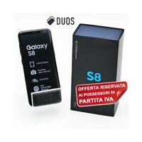 "SMARTPHONE SAMSUNG GALAXY S8 DUOS 64GB 5,8"" MIDNIGHT BLACK DUAL SIM PER P.IVA-"
