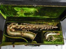 Vintage Frank Holton Gold-Plated Low Pitch Alto Saxophone Ser.# 23821