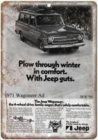 1974 JEEP WAGONEER Vintage Look Replica Metal Sign AIRSTREAM TRAVEL TRAILER