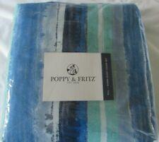 Poppy & Fritz Alex Full/Queen F/Q Duvet Cover Set blue green stripe new #47810