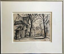 Early Dutch Landscape, CorneilleGuillaume Beverlo: Ink on Paper, Signed