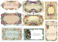 A6 FRENCH FURNITURE DECAL SHABBY CHIC IMAGE TRANSFER VINTAGE LABELS BLANK ROSE