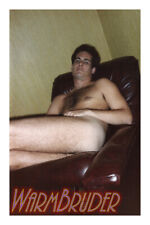 Handsome Nude Man Sitting in Recliner Chair - GAY INTEREST Photo