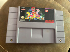 Mighty Morphin Power Rangers SNES Game Cartridge Authentic *Tested & Working!!*