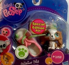 "Littlest Pet Shop ""Collector Pets"" #1825 Tan-White King Charles Spaniel Dog."